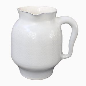 Vintage French Ceramic Eared Pitcher by Roger Capron, 1950s