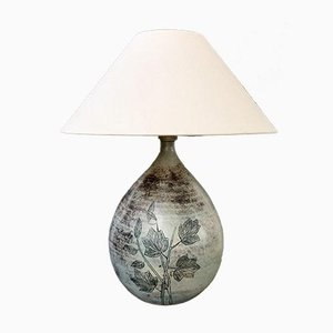Vintage French Ceramic Table Lamp by Jacques Blin, 1950s