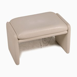 Cream Leather Stool from Chalet Erpo