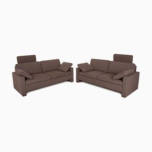 Alba 2-Seater Sofas in Brown Fabric from Brühl & Sippold, Set of 2