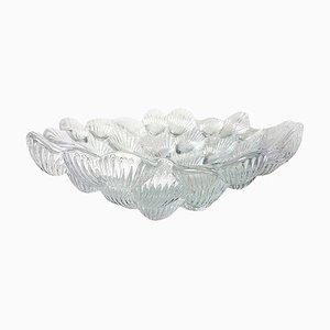 Crystal Glass Mussel Shell Bowl by Per Lutken for Royal Copenhagen, Denmark