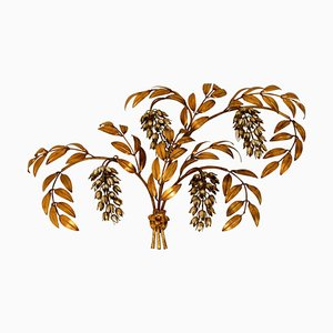 Large Gilt Metal Palm Tree Wall Fixture by Hans Kögl