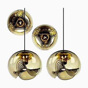 2 Sconces and 2 Pendant Lamps by Koch & Lowy for Peill & Putzler, 1970s, Set of 4