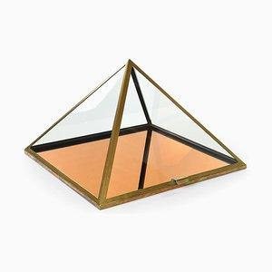 Pyramid Showcase Cabinet in Brass