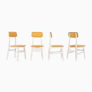 Mid-Century Italian Chairs, 1950s, Set of 4