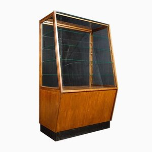 Vintage Bakery Showcase Cabinet in Brown, 1950s