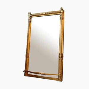 Large Antique Mirror in Gold Ornamental Frame, Late 1800s
