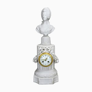 Large Marie Antoinette Biscuit Porcelain Clock