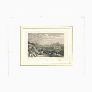 Unknown - Ancient View of Lago Maggiore - Mid-19th Century