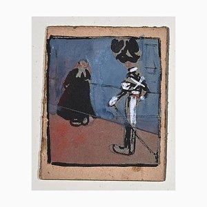 Gabriele Galantara - The Priest and the Cuirassier - 1905