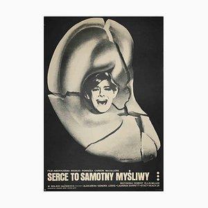 Serce to Samotny Myśliwy, Vintage Poster by Ryszard Kiwerski, Late 20th Century
