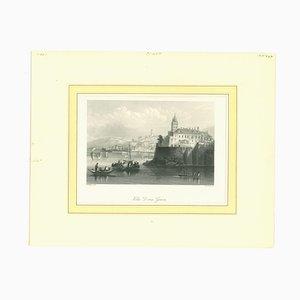 Unknown - Ancient View of Villa Doria, Genova - Mid-19th Century