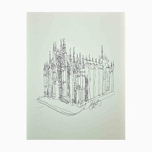The Cathedral, Original Photolithograph by Franco Gentilini, 1970s