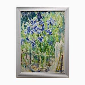 Georgij Moroz, Purple Iris, Oil on Canvas, 1995