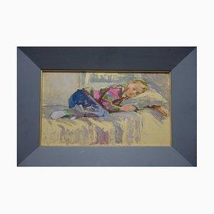 Emmalisa Senin, Sleeping Girl, Oil on Canvas, 1988