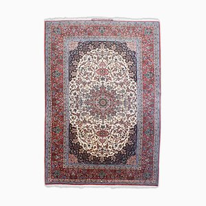Dark Red Rug with Signature Medallion and Border