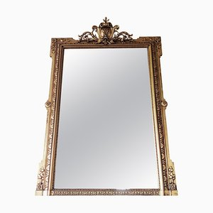 Victorian Style Giltwood Framed Overmantle Mirror, 1920s