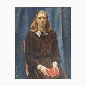 Alexandre Blanchet, Jeune Femme au Livre Rouge, Ursula Stauffacher, 1947