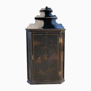 Antique Georgian Painted Chinoiserie Corner Cupboard