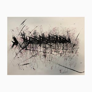 French Abstract Contemporary Art by Jérémie Rebourgeard - Elongations Atmosphere, 2020