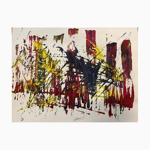 French Abstract Contemporary Art by J. Rebourgeard - La Simplification De Labso, 2020