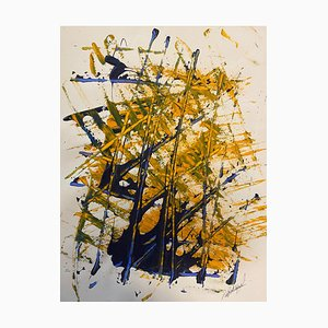 French Abstract Contemporary Art by J. Rebourgeard - Le Rituel Mysterieux, 2020