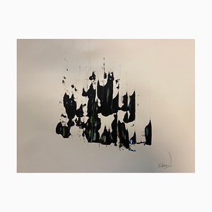 French Abstract Contemporary Art by J. Rebourgeard - Purity of Lightness, 2019
