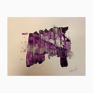 French Abstract Contemporary Art by J. Rebourgeard - Key Current, 2020