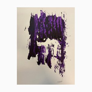 French Abstract Contemporary Art by J. Rebourgeard - Face Rape, 2019