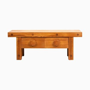 Small Swedish 20th Century Low Pine Bench from Karl Andersson & Söner