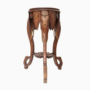 Antique Anglo Elephant Side Table