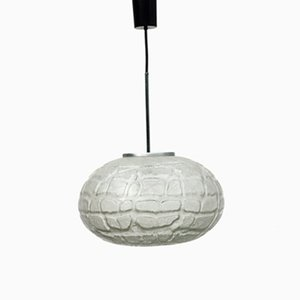 Large Frosted Glass Pendant Lamp from Doria, 1970s
