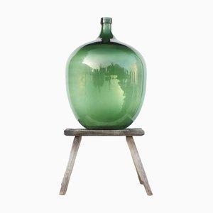 Large Antique Green Glass Demijohn