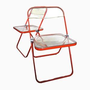 Plia Chairs by Giancarlo Piretti for Castelli, 1960s, Set of 2