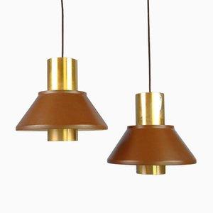 Life Pendant Lamps by Jo Hammerborg for Fog & Mörup, Denmark, 1970s, Set of 2