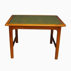 Teak Coffee Table with Leather Top