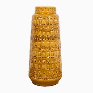 Mustard Yellow Ceramic Vase from Scheurich, 1970s