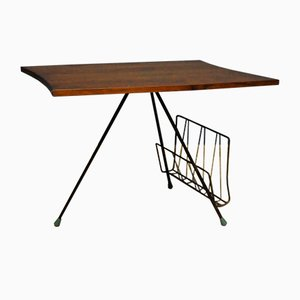 Table with Newspaper or Magazine Slot