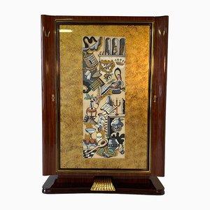Italian Art Deco Bar Cabinet by Vittorio Dassi, 1950s
