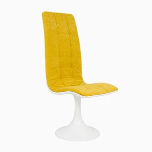 Restored Chair with New Mustard Upholstery by Péter Ghyczy