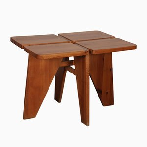 Czech Wooden Dining Table, 1960s