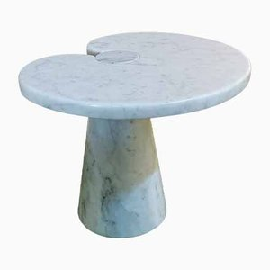 Eros Table in Carrara Marble by Angelo Mangiarotti for Skipper, Italy, 1970s