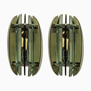 Colored Glass Sconces from Veca, 1960s, Set of 2
