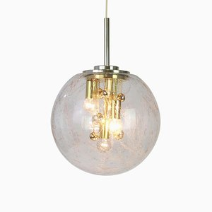 Large Sputnik Ball Pendant Lamp from Doria Leuchten, Germany, 1970s