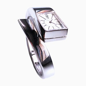Silver Snake Watch with Hand-Wound Movement by Alexis Barthelay, 1971