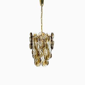 Smoked Murano Glass Pendant Lamp by Kalmar, Austria, 1970s