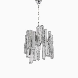 Small Murano Ice Glass Pendant Lamp, Germany, 1970s