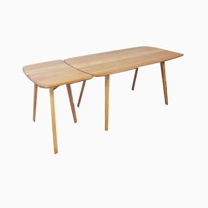 Plank Dining Table & Extension Table by Lucian Ercolani for Ercol, 1960s, Set of 2