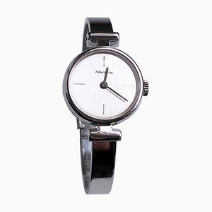 Solid Sterling Silver Bangle Watch with Manual Winding Movement from Alexis Barthelay, 1974