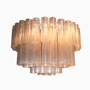 Murano Glass Tubes Chandelier from Venini, 1960s